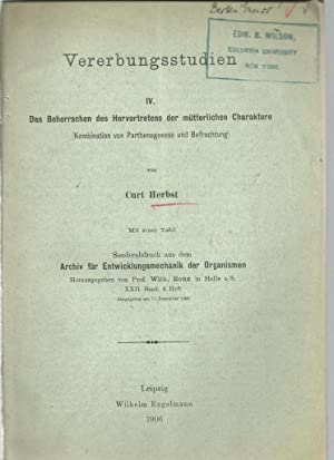 5 offprints Curt Herbst Zoologist 1866-1946: Herbst, Curt