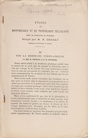 Sur la Membrane Periplasmique: Chodat, R.; Boubier, A.M.
