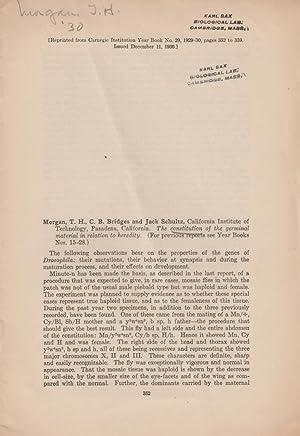 12 offprints by Thomas Hunt Morgan: Morgan, Thomas Hunt T. H. Morgan