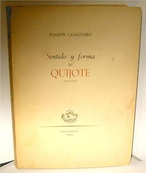 Sentido y forma del Quijote (1605-1615): Casalduero, Joaquin