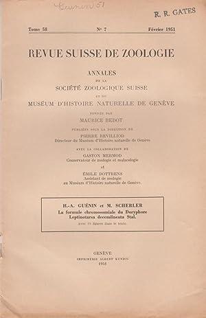 La Formule Chromosomiale du Doryphore Leptinotarsa Decemlineata Stal.: Guenin, H.-A.; Scherler, M.