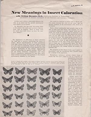 New Meanings in Insect Coloration: Hovanitz, William
