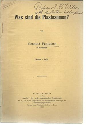 Was sind die Plastosomen?: Retzius, Magnus Gustaf