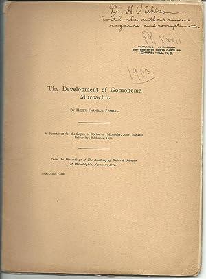 The Development of Gonionema Murbachii: Perkins, Henry Farnham 1877-1956