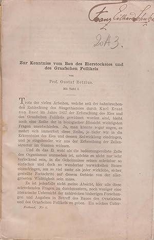 Zur Kenntnis vom Bau des Eierstockeies und des Graafschen Follikels: Retzius, Gustaf