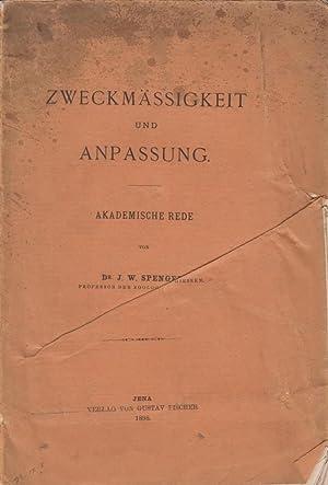 Zweckmassigkeit und Anpassung: Akademische Rede: Spengel, J. W. Johann Wilhelm Spengel