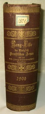"""Rang- und Quartier - Liste 1900 der K""""niglich Preu?isc Armee und des XIII. (K""""niglich W?..."""