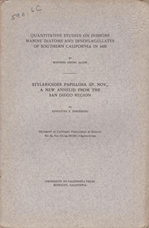 Quantitative Studies in Inshore Marine Diatoms and Dinoflagellates of Southern California in 1920; ...
