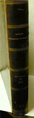 Deutsche Medizinische Wochenschrift begrundet Von Dr. P. Boerner 1917 XLIII. Jahrgang 4 Januar 1917...