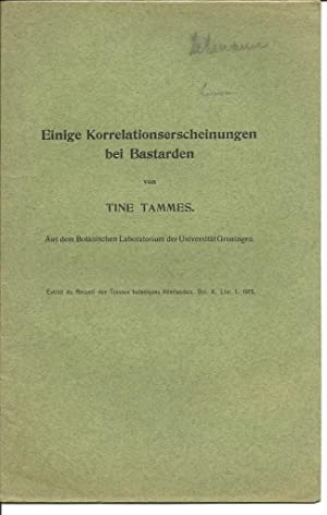 19 offprints from Tine Tammes 1913-1934: Tammes, Tine
