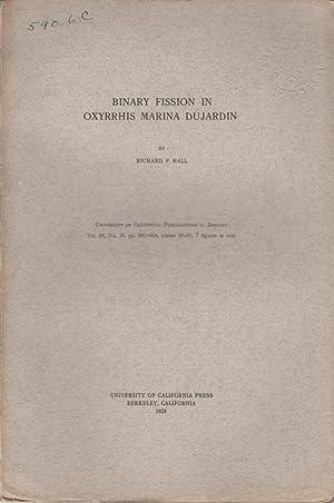 Binary Fission in Oxyrrhis Marina Dujardin: Hall, Richard P.