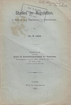 Studies on Regulation. I. Fission and Regulation in Stenostoma: Child, Charles M.