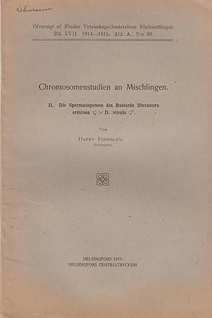 Chromosomenstudien an Mischlingen. II. Die Spermatogenese des Bastards Dieranura erminea xD. vinula...