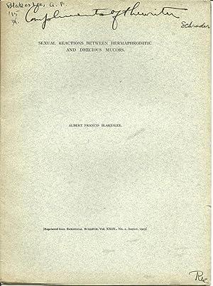 19 offprints of Albert F. Blakeslee American botanist 1874-1954: Blakeslee, Albert F.
