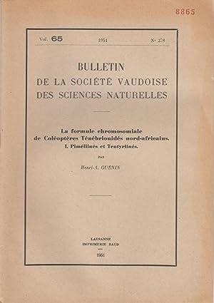 La Formule Chromosomiale de Coleopteres Tenebrionides Nord-Africains I. Pimeliines et Tentyriines: ...