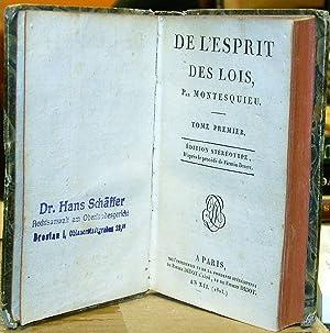 De L'Esprit Des Lois: Montesquieu