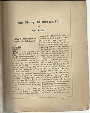 Ueber Philosophie der Darwin'schen Lehre: Caspari, Otto