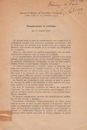 Nymphomanie et virilisme: Lesbouyries, G.
