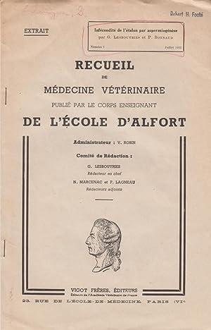 Infecondite de l'Etalon par aspermiogenese: Lesbouyries, G.; Bonnaud, P.