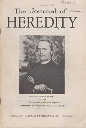 The Journal of Heredity Volume 42 Number 1 January-February 1951 Mendel's Versuche uber ...
