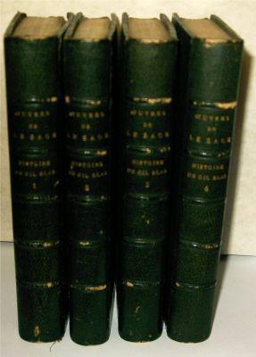 Historie de Gil Blas de Santillane 4 volumes: Sage, Alain-Rene le Avec Notice et Notes par A. P. ...