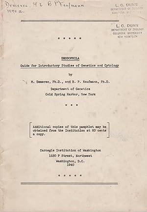 Drosophila Guide for Introductory Studies of Genetics: Demerec, M.; Kaufmann,