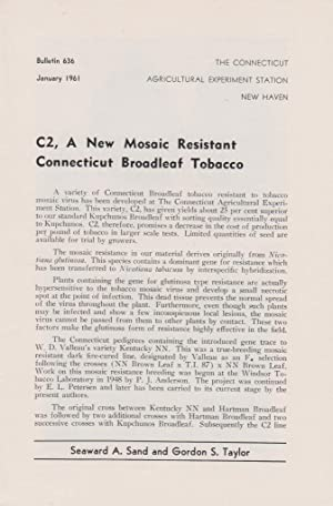 C2, A New Mosaic Resistant Connecticut Broadleaf Tobacco: Sand, Seaward. A., Taylor, Gordon. S.
