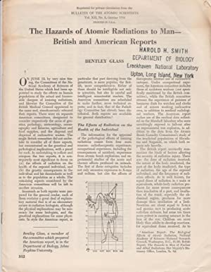 The Hazards of Atomic Radiations to Man- British and American Reports: Glass, Bentley