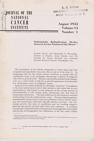 Endomitotic Reduplication Mechanisms in Ascites Tumors of the Mouse: Levan, Albert; Hauschka, ...