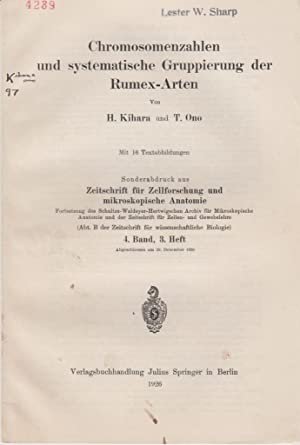 Chromosomenzahlen und Systematische Gruppierung der Rumex-Arten: Kihara, H.; Ono, T.