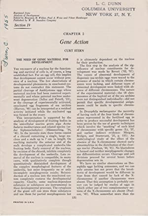 Chapter 2 Gene Action: Stern, Curt