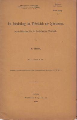 Die Entwicklung der Wirbelsaule der Cyclostomen: Hasse, C.
