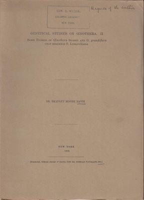 Genetical Studies on Oenothera. II. Some Hybrids of Oenothera biennis and O. grandiflora that ...