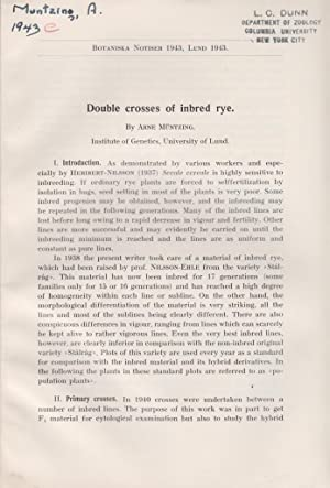 Double Crosses of Inbred Rye: Muntzing, Arne