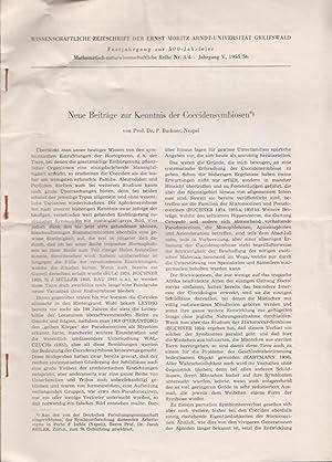 Neue Beitrage zur Kenntnis der Coccidensymbiosen: Buchner, P.