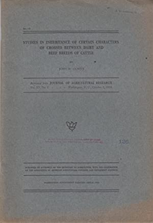 Studies in Inheritance of Certain Characters of Crosses Between Dairy and Beef Breeds of Cattle: ...