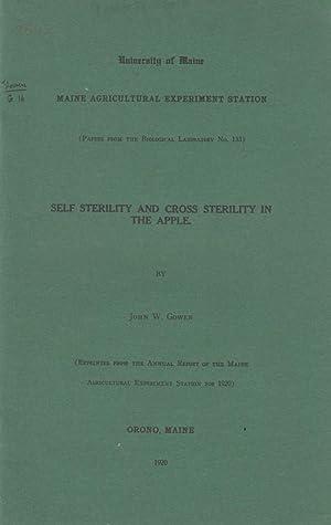 Self-Sterility and Cross Sterility in the Apple: Gowen, John W.