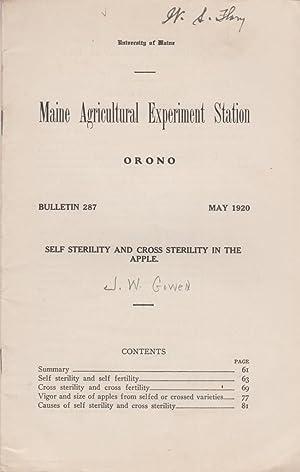 Self-Sterility and Cross Sterility in the Apple: Gowen, J.W.