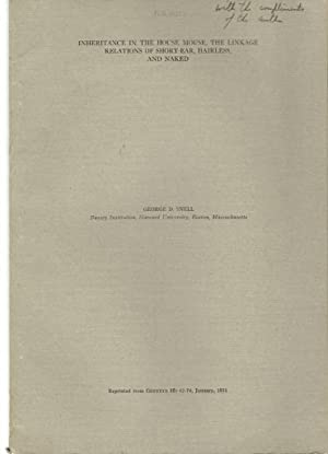 11 offprints by Nobel Prize winner George D. Snell: Snell, George D.