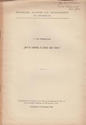 Over de kerndeeling bij Ennotia major Rabenh: Van Wisselingh, C.