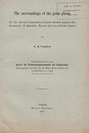 The Surroundings of the Germ Plasm III. The Internal Temperature of Warm-Blooded Animals (Mus ...