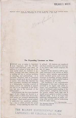 The Expanding Literature on Maize: Mangelsdorf, P.C.