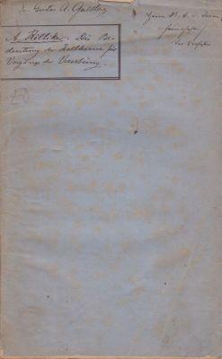 Die Bedeutung der Zellenkerne fur die Vorgange der Vererbung: Kolliker, Albert Rudolf Albert von K?...