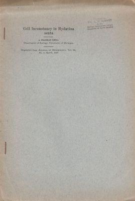 Cell Inconstancy in Hydatina senta: Shull, A. Franklin