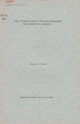 The International Phytogeographic Excursion in America: Nichols, George E.
