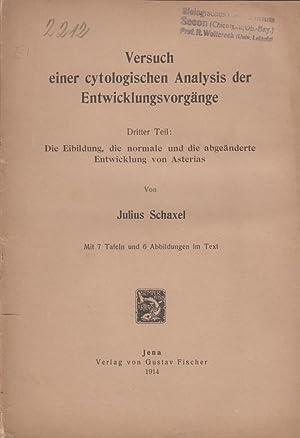 Die Eibildung, die normale und die abgeanderte Entwicklung von Asterias: Schaxel, Julius