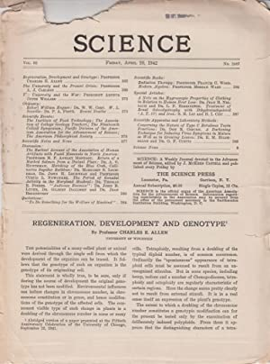Regeneration, Development, and Genotype: Allen, Charles. E.