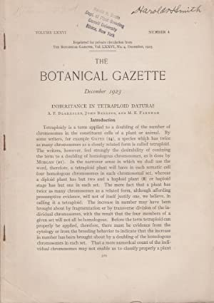 Inheritance in Tetraploid Daturas: Blakeslee, A.F., Belling, John,; Farnham, M.E