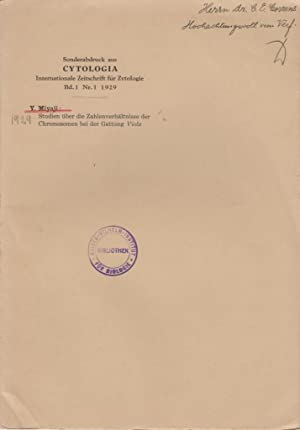 Studien uber die Zahlenverhaltnisse der Chromosomen bei der Gattung Viola: Miyaji, Y.