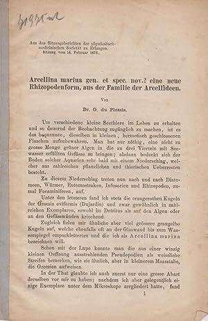 Arcellina marina gen. et spec. nov.? eine neue Rhizopodenform, aus der Familie der Arcellideen: Du ...